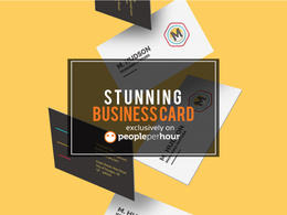Design Stunning Business Card+Source files+Unlimited Revisions