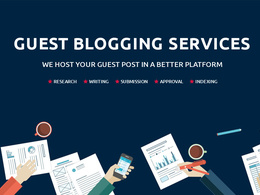 Write & publish 1 X 500 word Guest Post on High Authority Sites