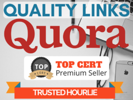 Write 15 HIGH QUALITY Quora answers with backlinks to your site