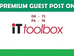 Write and Publish Guest Post on it.toolbox.com - DA 71
