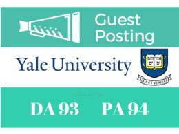 Publish Guest/Blog Post Yale University - Yale.edu DA 93