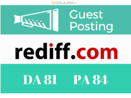 Publish a Guest Post on Rediff Blog - Rediff.com - DA 81
