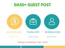 DA50+  guest posts on 3 sites - Writing & publishing