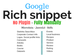 Rich Snippet Schema Markup Manually Microdata  JasonLd-NO plugin