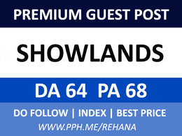 Write and Guest Post on Showlands, Showlands.com - DA 64