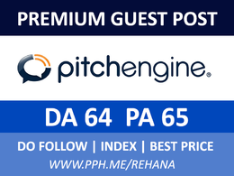 Publish guest post on PitchEngine - PitchEngine.com - DA64, PA65