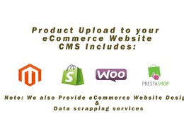 Upload products (100 ) to Magento|Shopify|Woocommerce|Prestashop