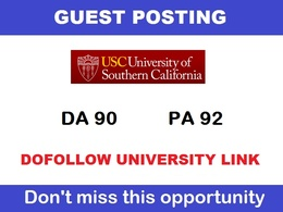 Guest post on my California edu university blog (usc.edu) ,DA 90