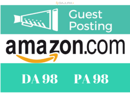Get DOFOLLOW backlink / guest post on Amazon Amazon.com (DA98)