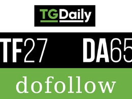 Write And publish a guest post on Tgdaily.com
