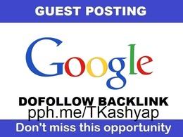 Google com Guest post DA 100 DO FOLLOW Genuine Post