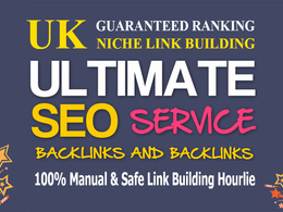 Gain 100 backlinks manually from 100 UK sites (guaranteed rank)