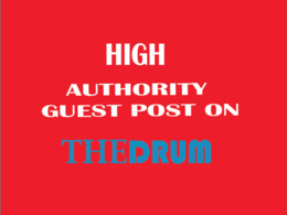 Write and publish hq guest post on thedrum.com