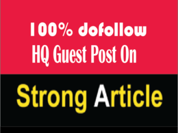Publish Guest Post On Strongarticle With Dofollow Link