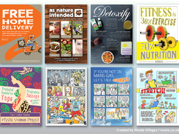 Design an eye-catching flyer with optional comic strip/drawing
