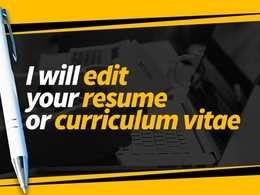 Proofread and copy-edit your 2 page CV or resume