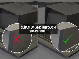 Retouch and clean up an image perfect professionally