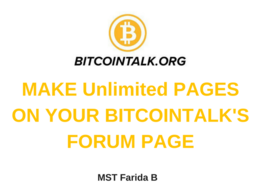 Make Your Annthread On Bitcointalk