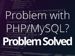 Fix your php/mysql error.