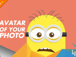 Create an avatar for your picture in flat style