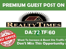 Publish Guest Post Realtytimes Do-Follow Links DA: 72 PA: 76