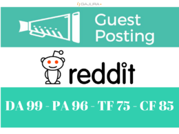 Get you DOFOLLOW UNIQUE BACKLINK on Reddit - Reddit.com DA 99