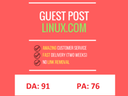 Write and publish guest Post in Linux.com Linux DA 92 (Dofollow)