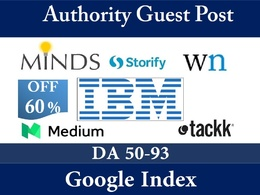 Publish 5 guest  Post on Authority Sites