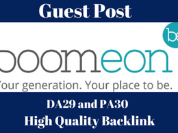 Publish Post On Boomeon.com DA 29 With Dofollow Link