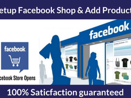 Setup Facebook Shop, Store and Upload 30 Products