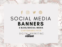 Design 5  bespoken and professional social media banners.