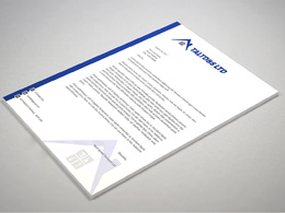 Design a MS Word editable letterhead with unlimited revisions