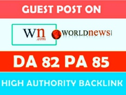 Write and publish guest post on WN(World News)