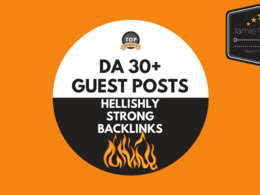 5 Guest Posts on EXTREMELY Powerful Sites DA 30+ W/ Social Share