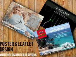Design a flyer, leaflet or poster with unlimited revisions!