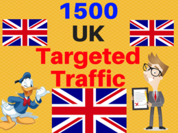 1500 UK TARGETED traffic to your website or blog