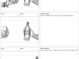 Create up to a 20-frame storyboard (b & w)