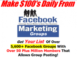 Give You 5600+ Facebook Groups for Promotion