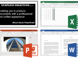 Create a template for you in Word, Excel or PowerPoint