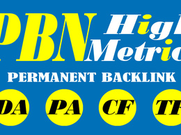 Create Manually 10 High Quality DA-PA-TF-CF PBN SEO Backlink