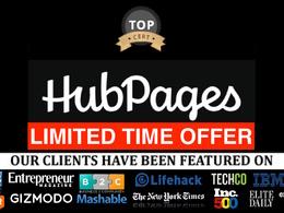 Publish a guest post on Hubpages Hubpages.com