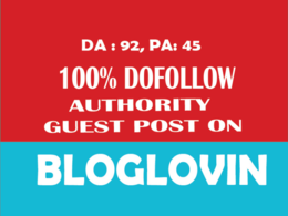 Write And Publish A Dofollow Guest Post On Bloglovin.com