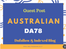 Guest post on DA78 Australian Website