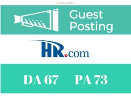 Guest Post on HR - HR.com DA 67