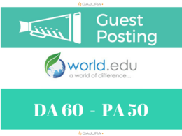 Publish a guest post on World EDU Blog - World.edu, DA 60