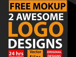 Design 2 Awesome Logo With Free Mockup and vector editable files