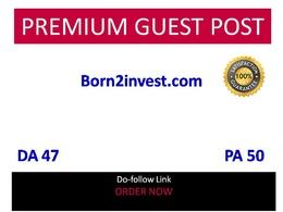 Publish guest post in Born2invest - Born2invest.com DA 47