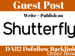 Publish Guest Post On ShutterFly DA82