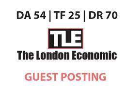 Publish a guest post on The London Economic - DA54, TF25, DR70