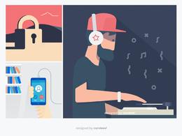 Design a vector illustration / digital artwork for web & prints